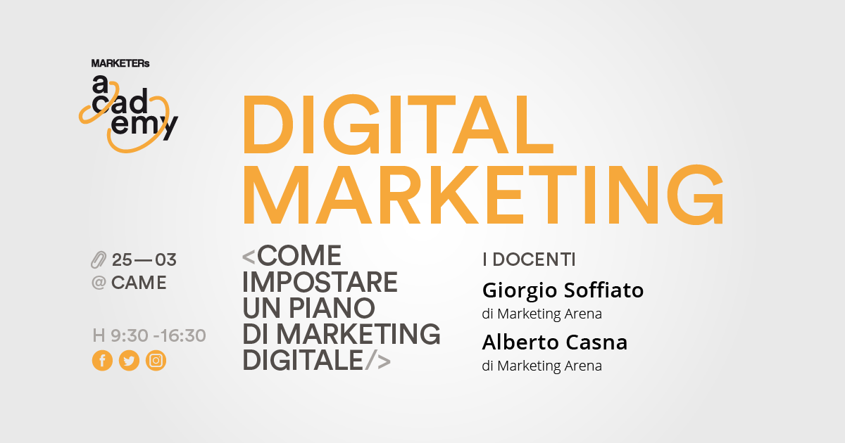 Marketers Academy - corso di formazione in digital marketing